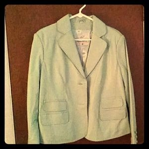 A light blue & green leather jackets
